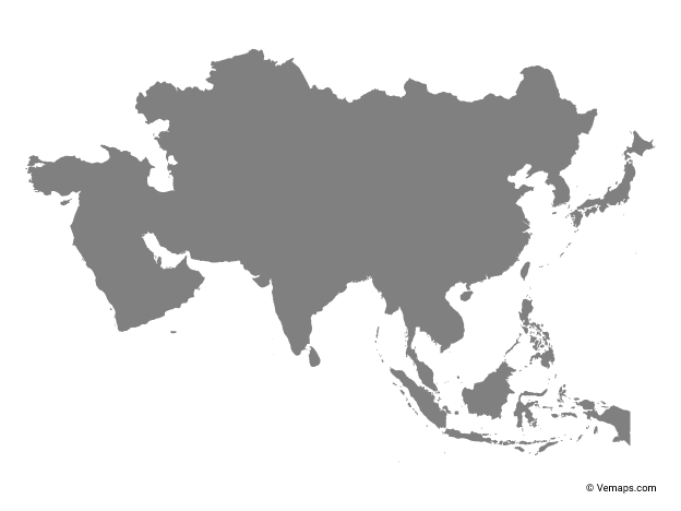 Outline Map of Asia | Free Vector Maps