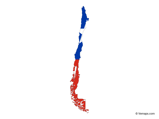 Flag Map of Chile