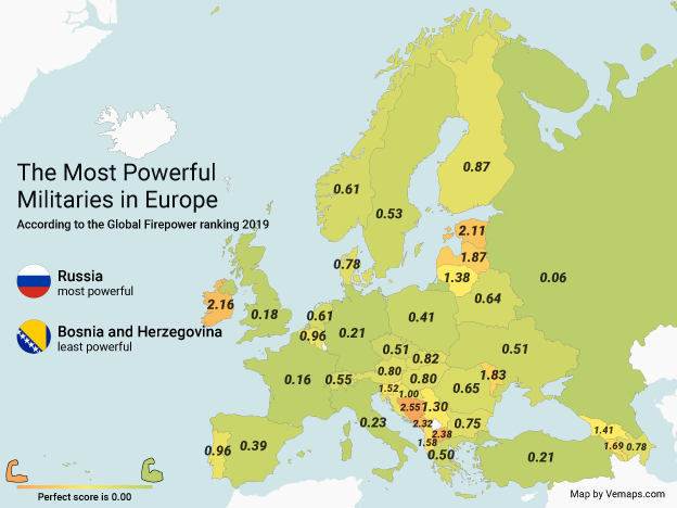 The Most Powerful Militaries in Europe