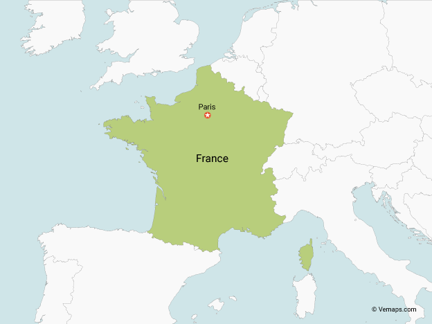 Map Of France With Neighbouring Countries.Map Of France With Neighbouring Countries Free Vector Maps