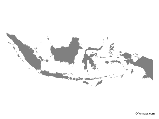 Grey Map of Indonesia