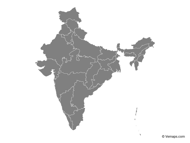 Vector Maps of India | Free Vector Maps