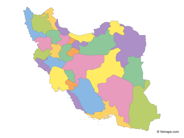 Vector Maps of Iran | Free Vector Maps