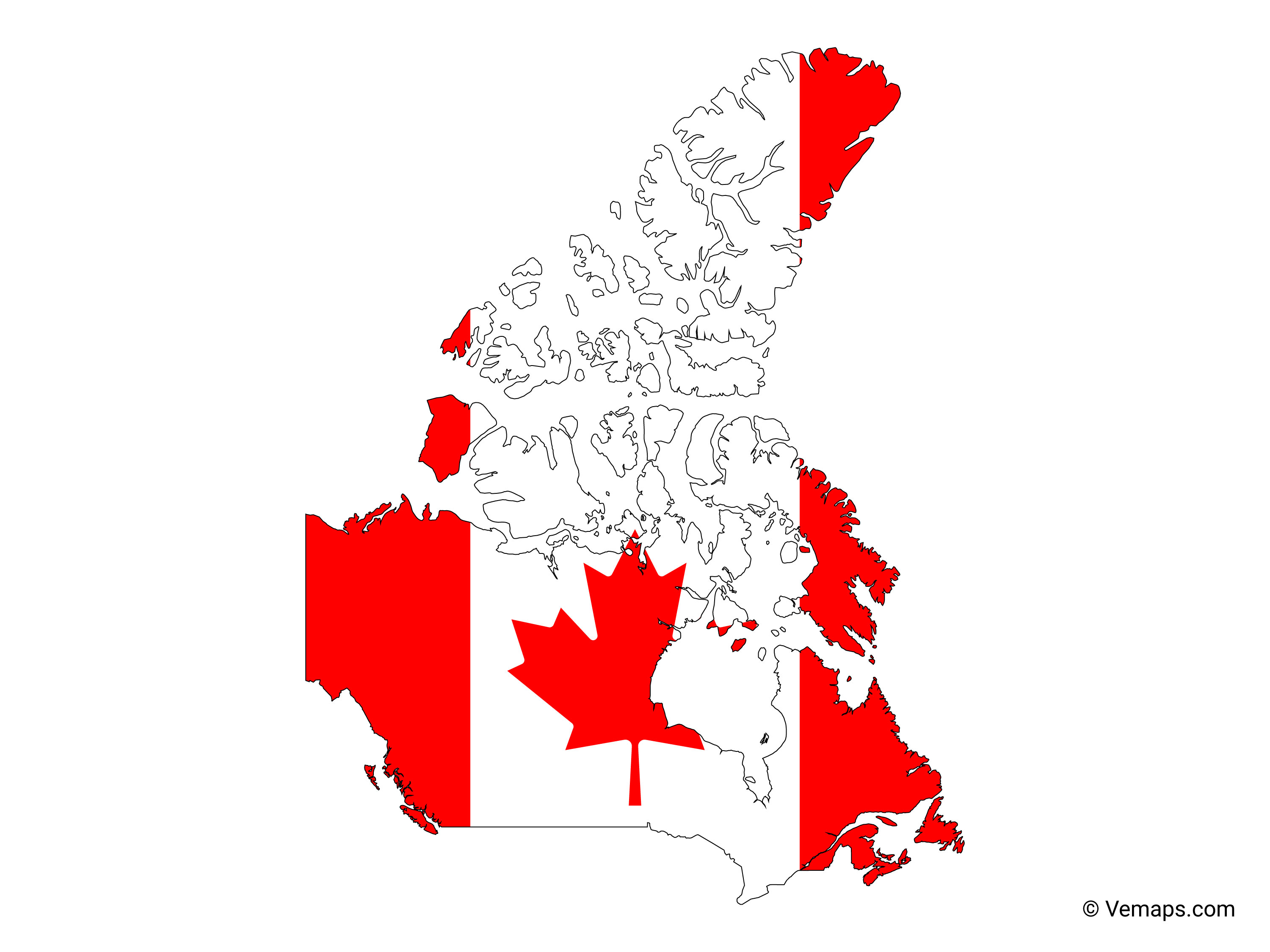 Canada Map Flag Flag Map of Canada | Free Vector Maps