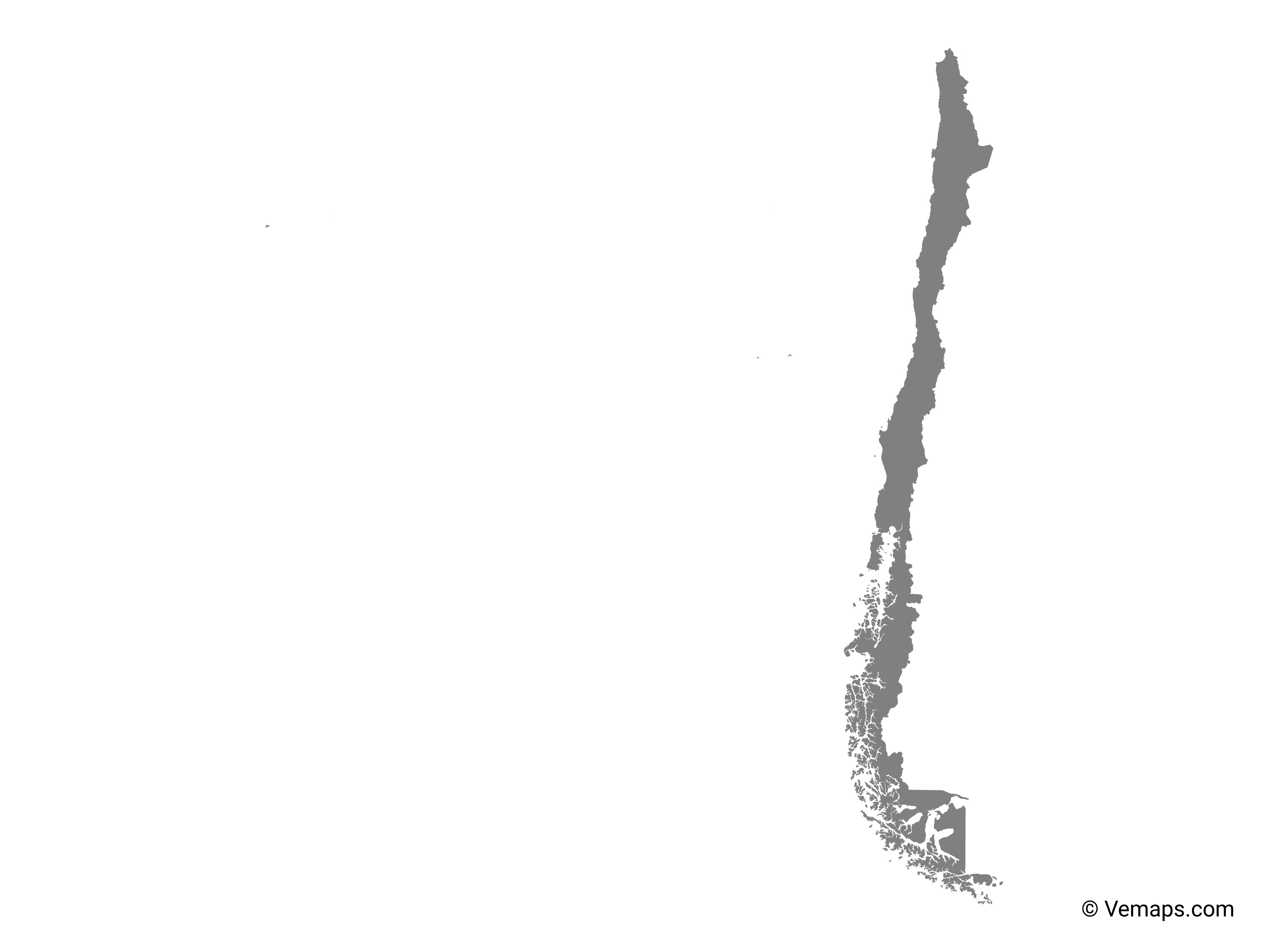 Grey Map Of Chile Free Vector Maps