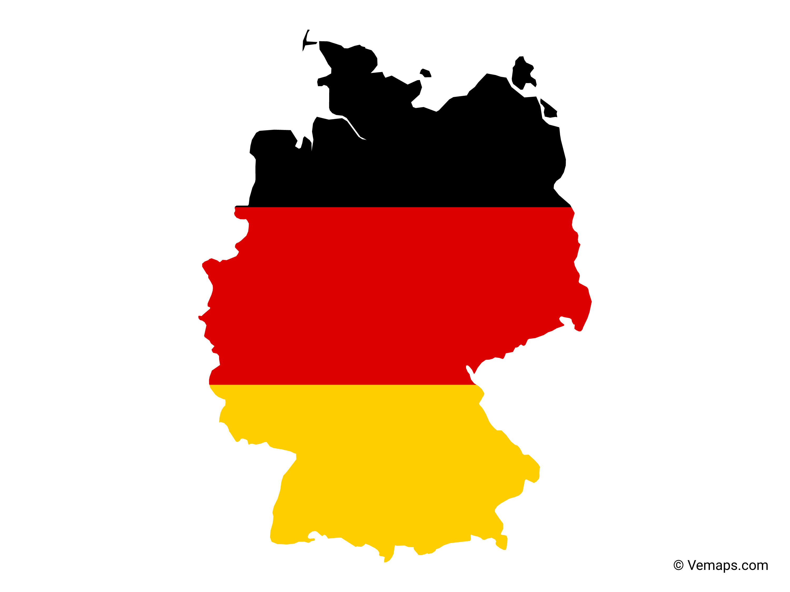 Flag Map Of Germany Free Vector Maps