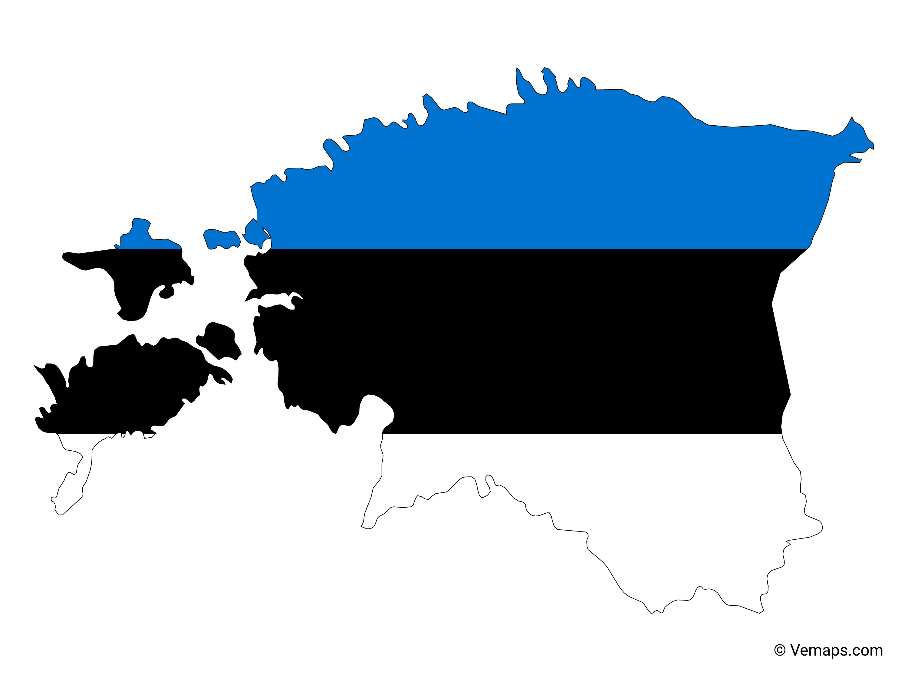 Picture of: Flag Map Of Estonia Free Vector Maps