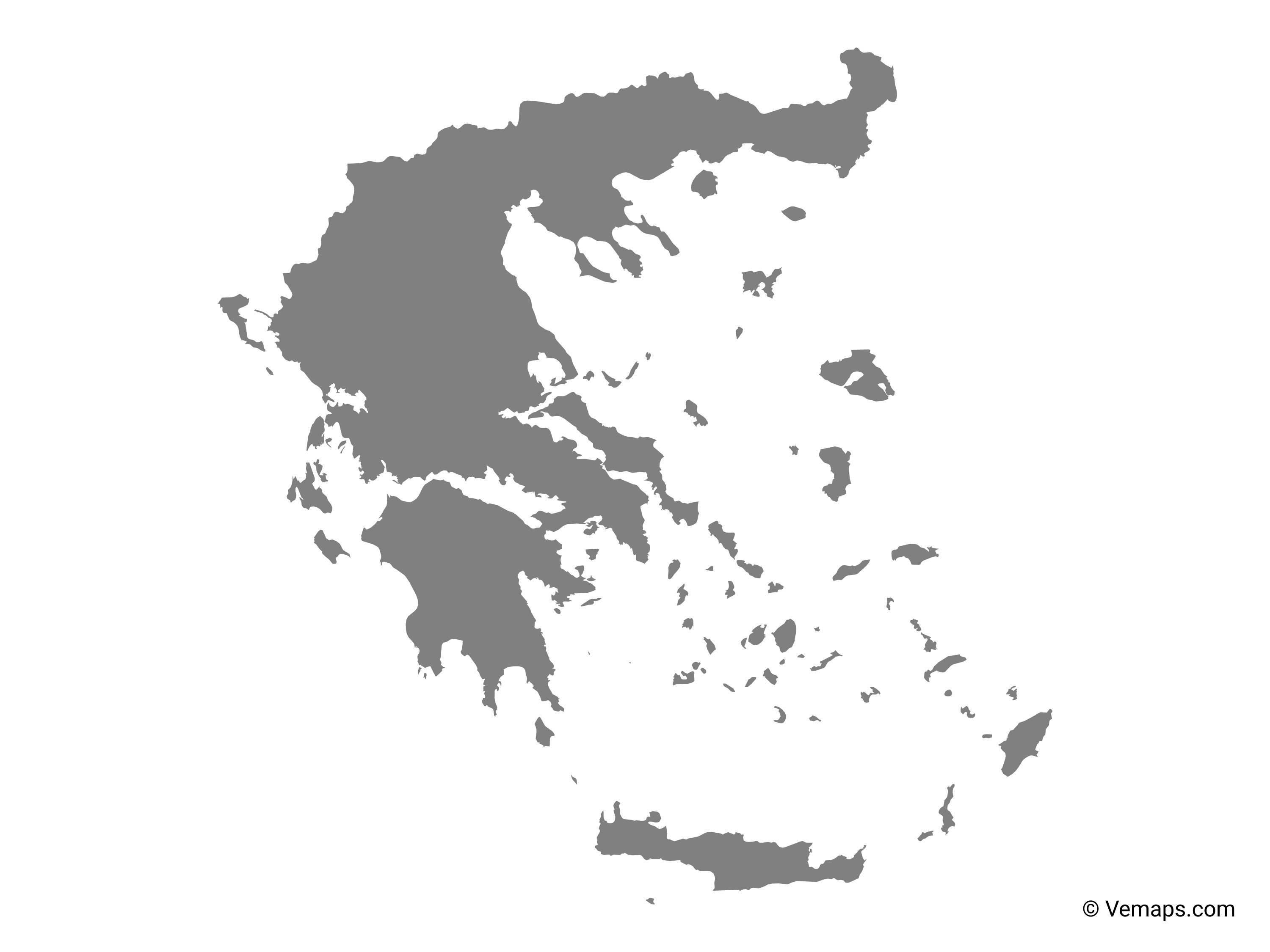 Picture of: Grey Map Of Greece Free Vector Maps