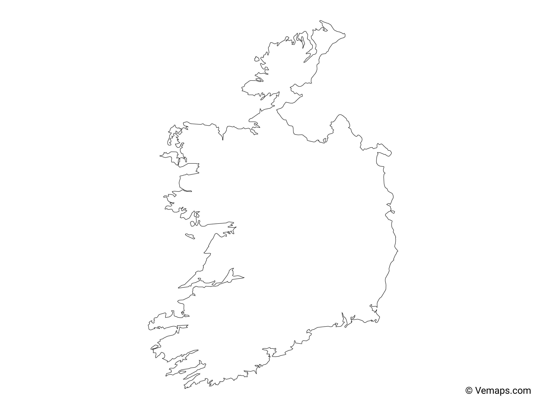 Outline Map Of Ireland.Outline Map Of Ireland Free Vector Maps