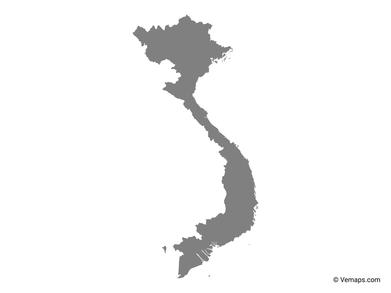 Grey Map of Vietnam   Free Vector Maps