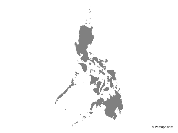 Grey Map of Philippines